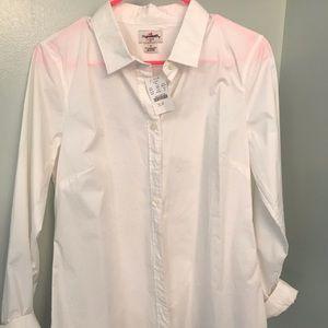 JCrew Factory white button down shirt NWT